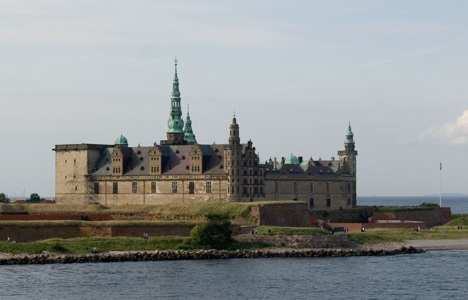 Kronborg Castle in Elsinore, Denmark